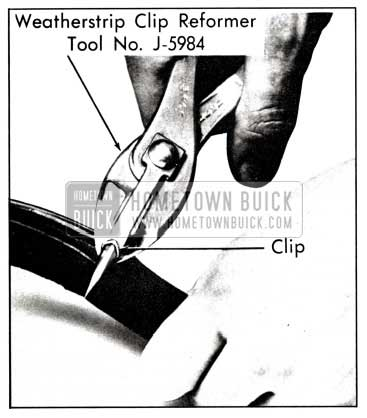 1958 Buick Reforming Weatherstrip Clip