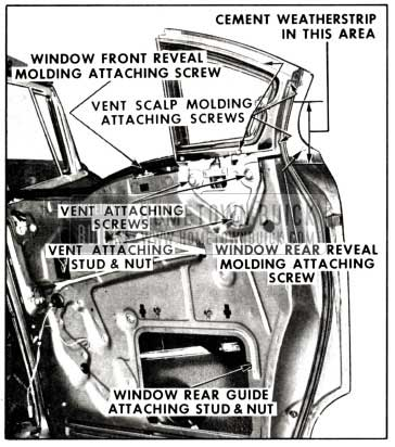 1958 Buick Removal of Rear Door Window Ventilator