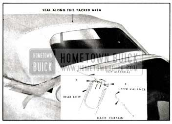 1958 Buick Sealing at Rear Bow