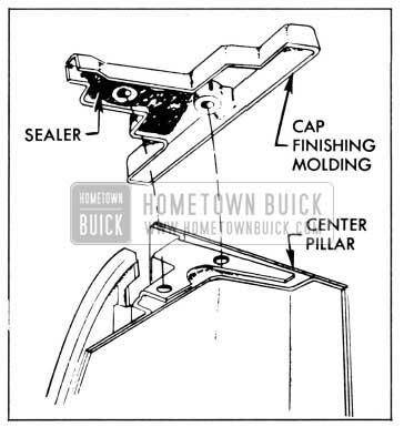 1958 Buick Sealing Center Pillar Cap