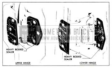 1958 Buick Sealing Rear Door Hinges Procedure