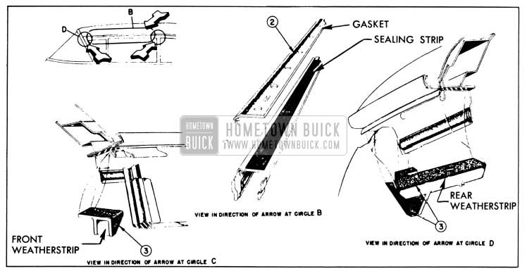 1958 Buick Side Roof Rail Mechanical Sealing Strip