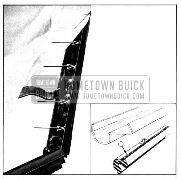 1958 Buick Side Roof Rail Weatherstrip-Convertibles