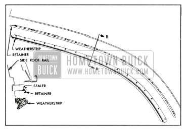 1958 Buick Side Roof Rail Weatherstrip