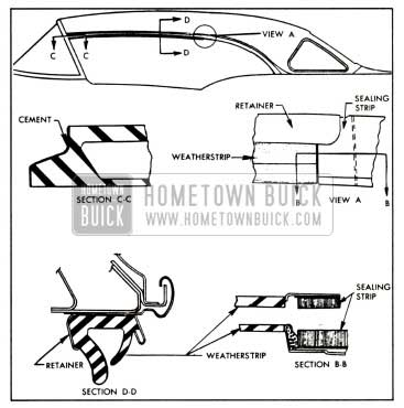1958 Buick Side Roof Rail Weatherstrips