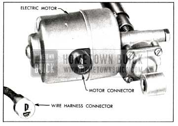 1958 buick socket and blade type connector for seat motor