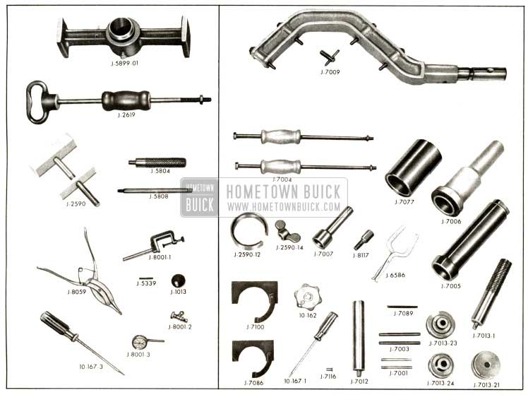 1958 Buick Special Flightpitch Dynaflow Service Tools Overview