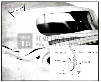 1958 Buick Top Attachment at Rear Trim Stick