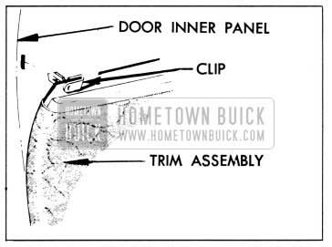 1958 Buick Trim Pad Clip