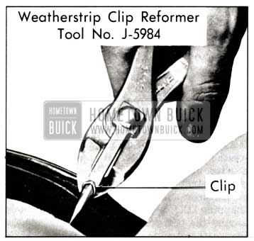 1958 Buick Weatherstrip Clip Reforming Tool