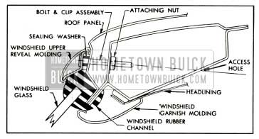 1958 Buick Windshield and Reveal Molding Installation