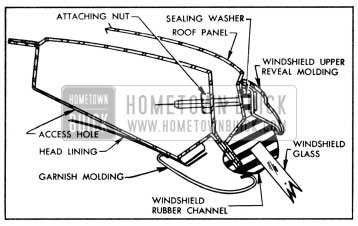 1958 Buick Windshield Reveal Molding Installation