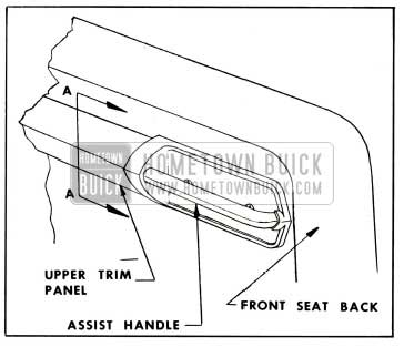 1959 Buick Attachment of Assist Grip Handle on Four-Door Styles