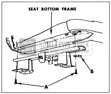 1959 Buick Attachment of Manually Operated Seat Adjuster