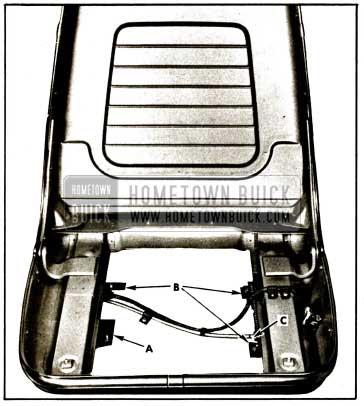 1959 Buick Bucket Type Seat-To-Floor Pan Attachments