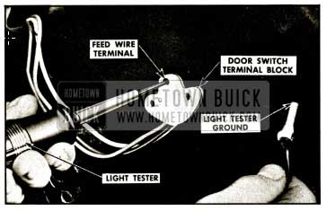 1959 Buick Checking Door Window Control Switch Feed