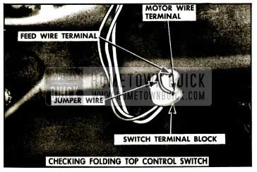 1959 Buick Checking Door Window Control Switch