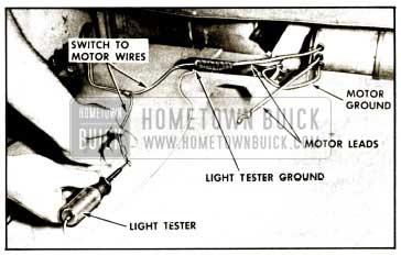 1959 Buick Checking Motor Wiring