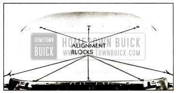 1959 Buick Checking Windshield Opening with Alignment Blocks