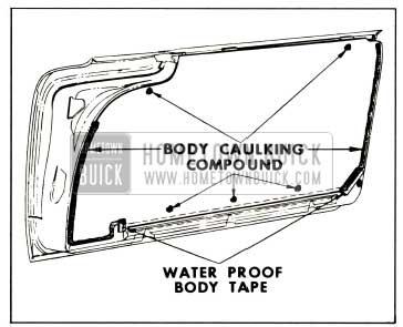 1959 Buick Door Water Deflectors-2-Door Styles