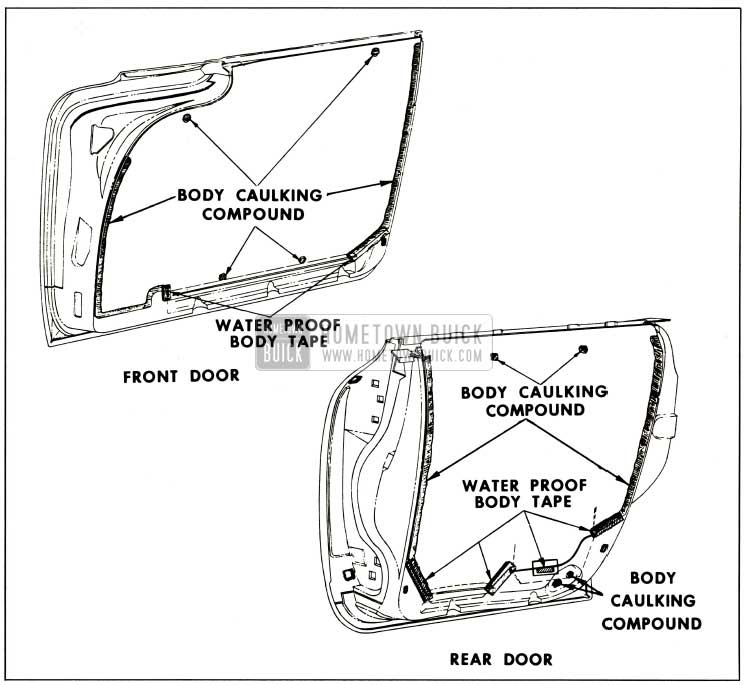 1959 Buick Door Water Deflectors-4-Door Styles