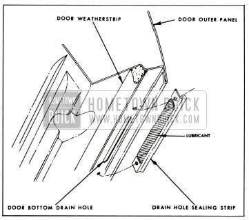 1959 Buick Drain Hole Sealing Strip