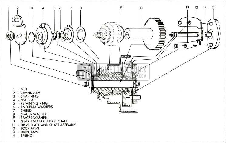 1959 Buick Drive Gear Mechanism