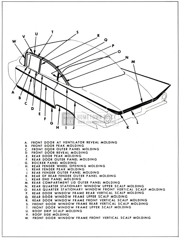 1959 Buick Exterior Moulding-4619 Style