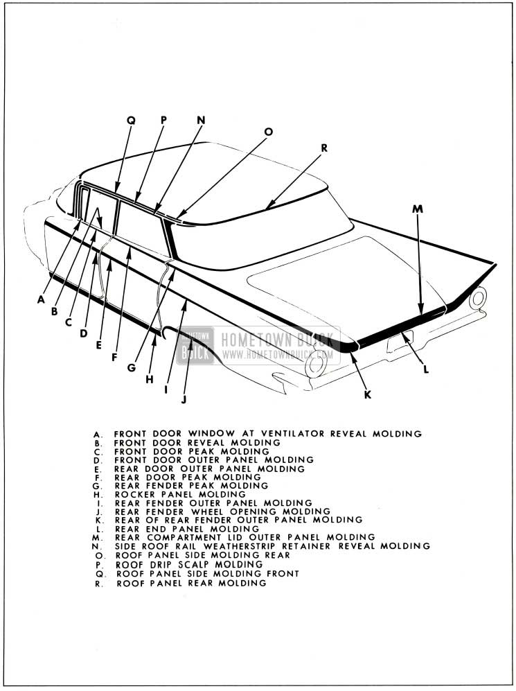 1959 Buick Exterior Moulding-4639 Style