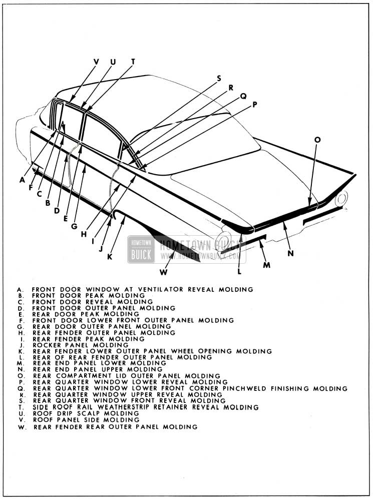 1959 Buick Exterior Moulding-4829 Style