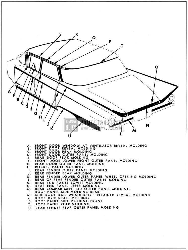 1959 Buick Exterior Moulding-4839 Style