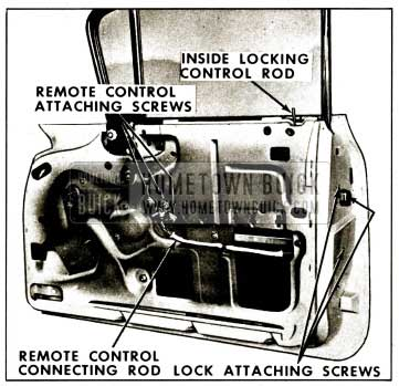1959 Buick Front Door Lock Assembly Removal