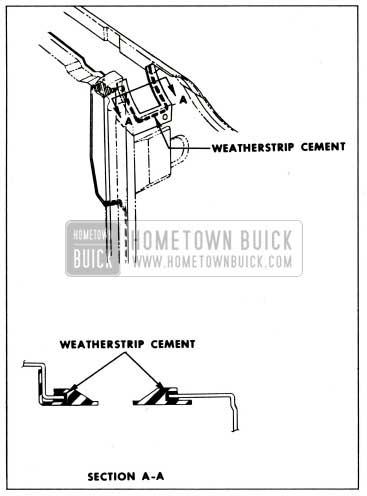 1959 Buick Front Door Lock Pillar Sealing Strip