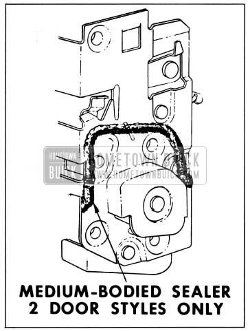 1959 Buick Front Door Lock Sealing
