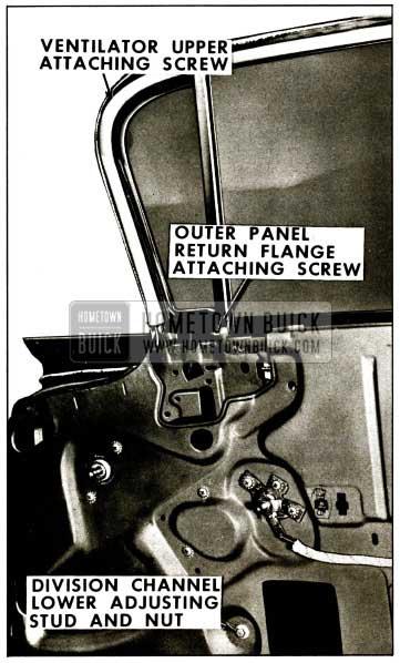 1959 Buick Front Door Ventilator Assembly - Adjustment