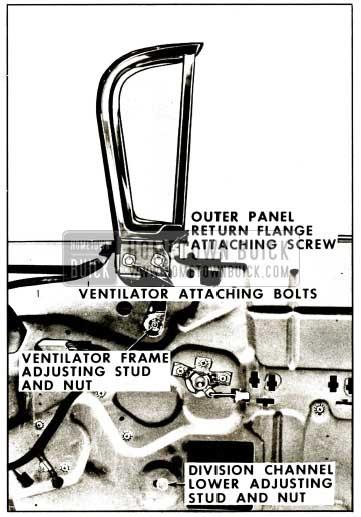1959 Buick Front Door Ventilator Assembly Illustration