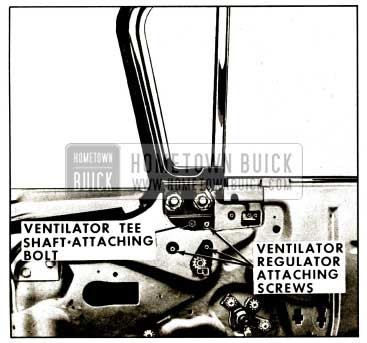 1959 Buick Front Door Ventilator Assembly