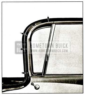 1959 Buick Front Door Ventilator Garnish Moulding