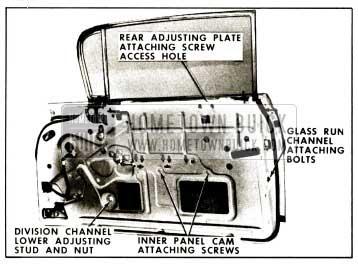 1959 Buick Front Door Window Adjustments-Hardtop Coupes