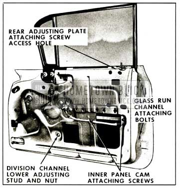 1959 Buick Front Door Window Adjustments-Hardtop Sedans