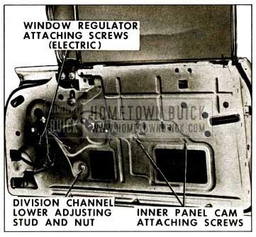 1959 Buick Front Door Window Regulator Removal Illustration