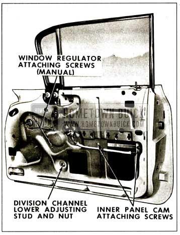 1959 Buick Front Door Window Regulator Removal