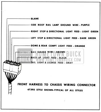 1959 Buick Front Harness to Chassis Wiring Connector
