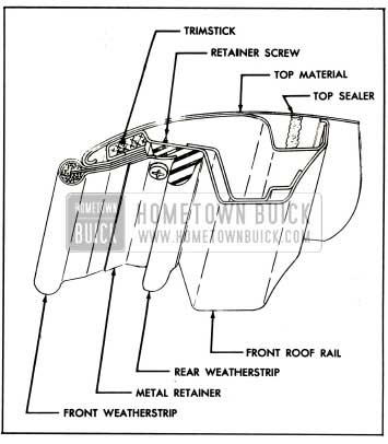 1959 Buick Front Roof Rail Sealing and Construction