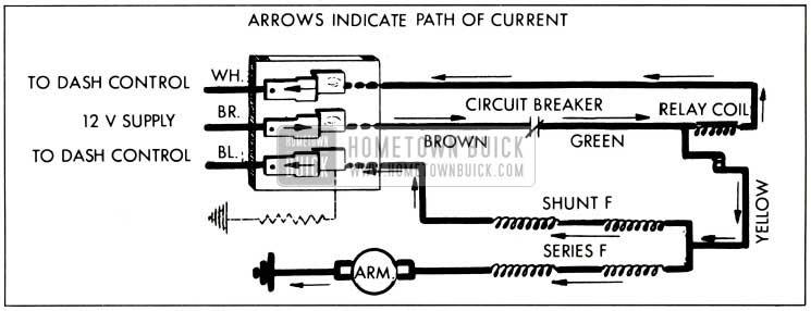 1959 Buick Lo Speed Operation-Wiring Circuit