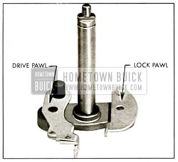 1959 Buick Lock and Drive Pawl Assembly