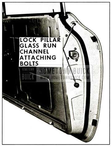 1959 Buick Lock Pillar Glass Run Channel