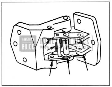 1959 Buick Lubrication of Rear Door Hinge and Hold-open Assembly