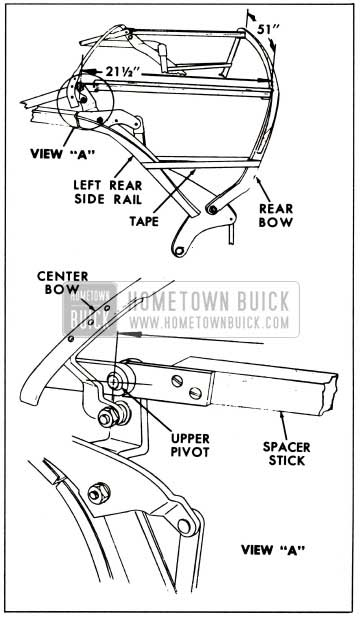 1959 Buick Positioning of Rear Roof Bow