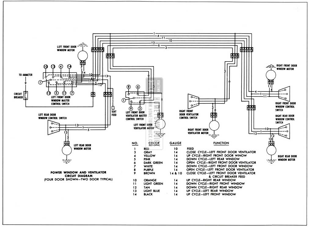 1959 Buick Power Window Circuits